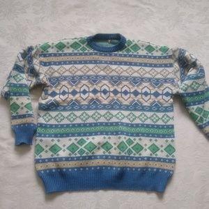 Vintage oversize sweater nordic/fair isle